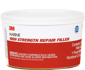 High Strength Repair Filler w/Hardener, 6 oz.
