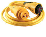 30A 125V EEL Shorepower™ Cordsets, 50' Yellow