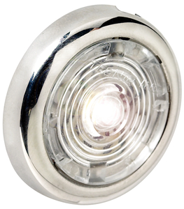 "1-1/2"" White Interior/Exterior Light w/SS Bezel"