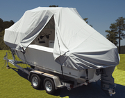 24' O/B Walk Around Cuddy w/Hard Top & Center Console w/T-Top Boat Cover, Poly Guard