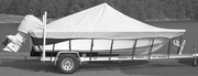 17' Center Console Fishing Boat Cover, Cotton Duck