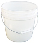 2 Gal. Plastic Industrial Pail, White