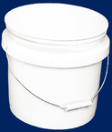 3-1/2 Gal. Plastic Industrial Pail, White