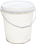 5 Gal. Plastic Industrial Pail, White