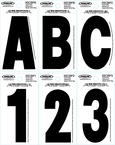 "Dyer&Reg; Font Letters & Numbers, 3"" Black 5, 10 Pack"