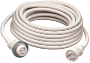 30A/125V 25' Cable Set White