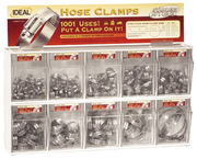 285 Piece SS Hose Clamp Assortment w/Tilt Bins