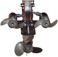 Engine Mounted Saltwater Trolling Motor, 24V 110# Dual