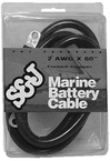"Battery Cable 2 Ga. 60"" Black"