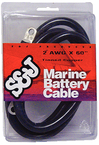 "Battery Cable 2 Ga. 72"" Black"