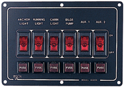 6 Switch Illiminated Switch Panel, Horizontal