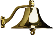 Brass Bell(Chrome Plated)-8""