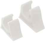 "Pole Storage Clip, 1-1/2"" White"