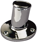 Chrome Brass Pole Socket-1 1/4""
