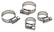 "SS Hose Clamp Set, 7/32"" - 5/8"" and 7/16"" - 25/32"", 2 of Each"