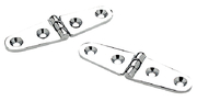 Strap Hinge-6X1 1/8 - Chrome Plated Brass 2/Pk
