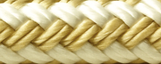 "Double Braid Nylon Anchor Line, Gold/White 1/2"" X 200'"