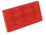 Red Reflector W/Adhesive Backing