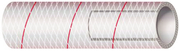 "Clear Reinforced PVC Tubing, 3/4"" x 10' w/Red Tracer"