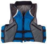 Comfort Series™ Collared Angler Vests, Navy Lg.