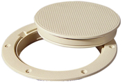 Deck Plate Ivory 6""