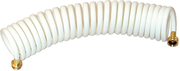 15' Coiled Wash Down Hose, White