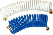 25' Coiled Wash Down Hose, Blue