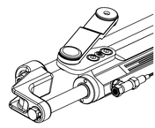 Silversteer™ Front Mount Hydraulic Steering Cylinder w/Offset Arm