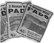 Bronze Wool Pads, Fine 3/Pack