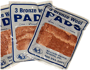 Bronze Wool Pads, Coarse 3/Pack