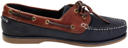 Clipper Navy/Chestnut Leather Shoes, Size 8