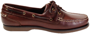 Clipper Chestnut Leather Shoes, Size 10