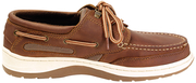 Sydney Walnut Leather Shoes, Size 8.5